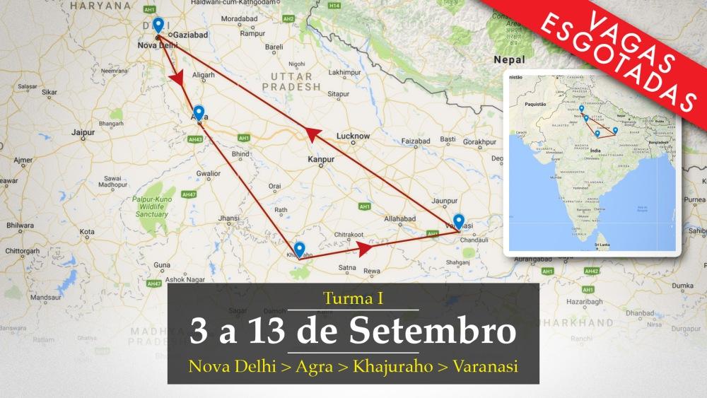mapa roteiro 1 setembro 2017 vagas esgotadas