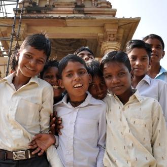 As mais curiosas crianças de Khajuraho