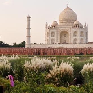 Taj Mahal visto de onde poucos turistas se aventuram