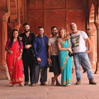 Prática de fotografia no Taj Mahal